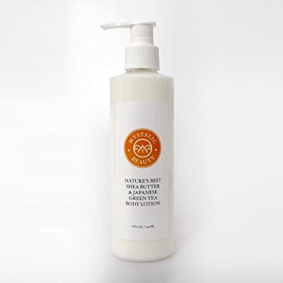 Natures Best Shea Butter & Japanese Green Tea Body Lotion For Woman, Men & Baby - Leaves skin Hydrated, Smoother Than Ever Before - Advanced Formulation from Raw Organic Unrefined Ingredients With Vitamin E - Beats Cream - 45 Day Guarantee