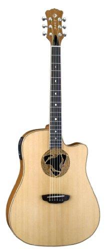 Luna Oracle Series Crane Cutaway Acoustic-Electric Guitar - Natural
