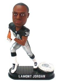 Buy Low Price Forever Collectibles Oakland Raiders LaMont Jordan Forever Collectibles Black Base Edition Bobble Head Figure (B000VUXNSA)