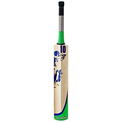 SS Smaash Green-Sma Kashmir Willow Cricket Bat, Short Handle