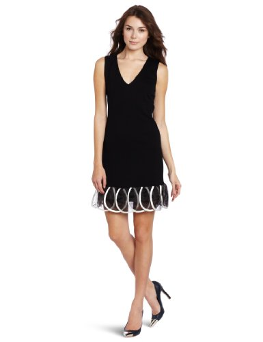 Yoana Baraschi Women's Pretty Penny Party Dress, Black/White, Large
