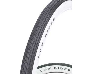 Lowrider Bike | Bicycle Tire 20″ x 1.75″ Black/White
