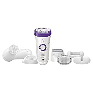 Braun Silk-épil 9 9-579 - Wet & Dry Cordless Electric Hair Removal Epilator, Ladies' Electric Shaver for Women (Bonus Edition)