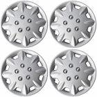 "SET OF 4 X 13 INCH ALLOY LOOK CAR WHEEL TRIMS/COVERS/SILVER 13"" HUB CAPS nt"