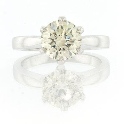 2.05ct Round Brilliant Cut Diamond Engagement