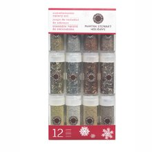 Martha Stewart Glitter Golden Woodland 12 Piece Set