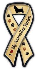 【アニマルズインク】 リボンマグネットバッジ『オーストラリアン・テリア大好き』Australian Terrier