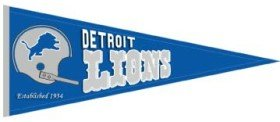 Detroit Lions Throwback Wool Pennant by Unknown