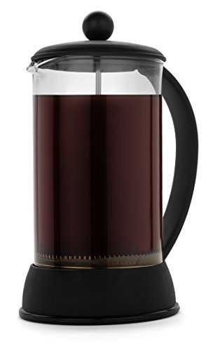 FP-Coffee-Maker-French-Press-Coffee-Maker-w-Glass-Carafe-and-Sturdy-Plastic-Frame-34-oz-8-cup-capacity-black