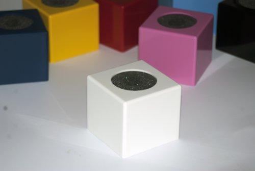 """White Cube Xl Microphone Flag (2.7"""" X 2.4"""")"""