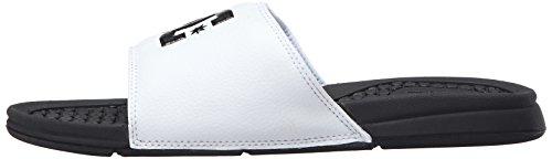 DC Men's Bolsa Slide Sandal, Black/White, 11 M US