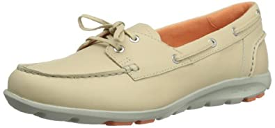 Rockport Womens TWZ Il Boat Shoes V77235 Bleached Sand 3 UK, 36 EU, 5.5 US, Regular