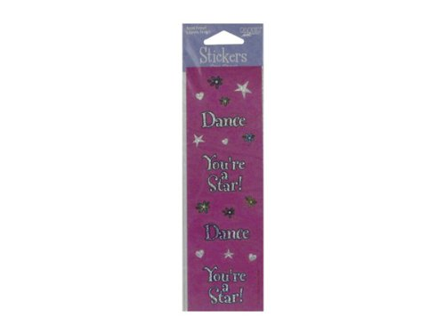 New - Glitter dance stickers, pack of 4 - Case of 24 - KI832-24