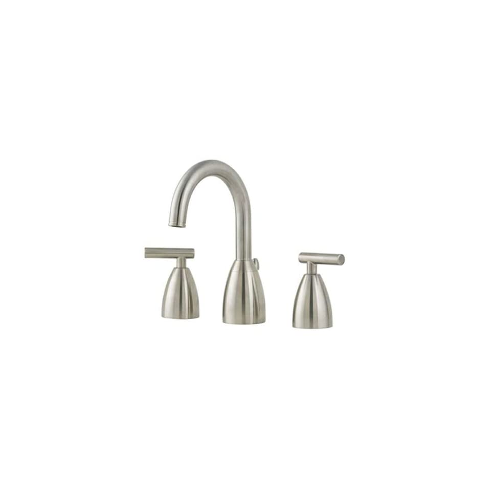 Price Pfister T49 NK00 Contempra Lavatory 8 15 Lavatory Faucet with All Metal Pop Up, Satin Nickel