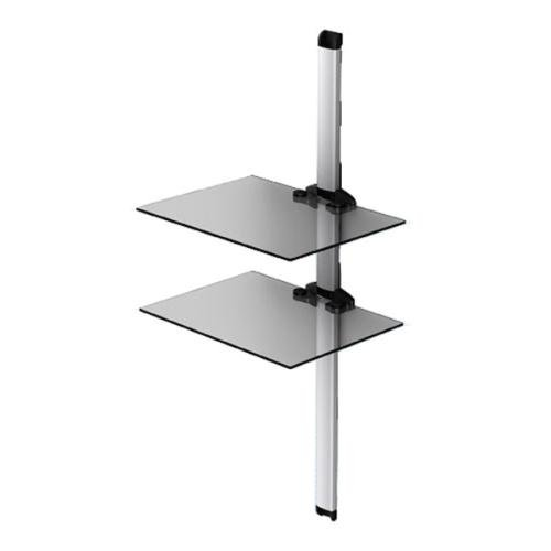 Sonorous Double Shelf Support System - Black and Silver