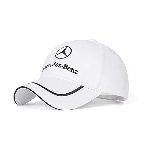 Car Logo Adjustable Baseball Cap Unisex Hat Travel Cap Car Racing Motor Hat for BMW White