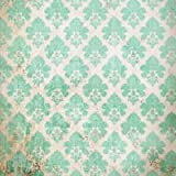 CLICK PROPS DAMSK GREEN 5 X 5 FOOT VINYL PHOTOGRAPHIC BACKGROUND
