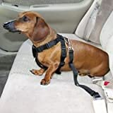 HDP Car Harness Dog Safety Seat Belt Gear Travel System Color:Black