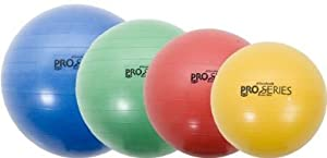 """Thera-band Yellow 45cm Slow Deflate System Pro-Series Anti-Burst Exercise Ball - For Body Height 4' 7"""" - 5'"""