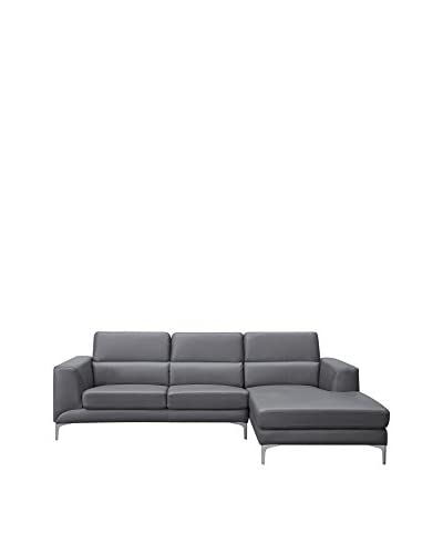 Whiteline Sydney Sectional Right Chaise, Grey