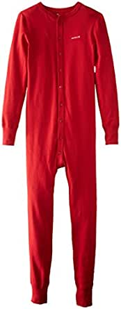 Carhartt Men's Midweight Cotton Union Suit, Red, Medium Regular