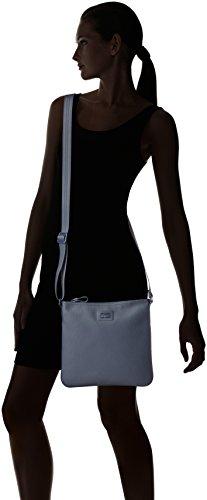Lacoste Women's Classic Flat Crossover Cross Body Bag, Black Iris, One Size