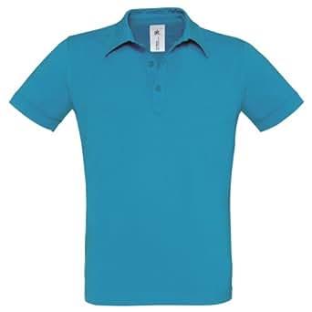 B&C - Polo à manches courtes 100% coton - Homme (S - 99cm) (Bleu)