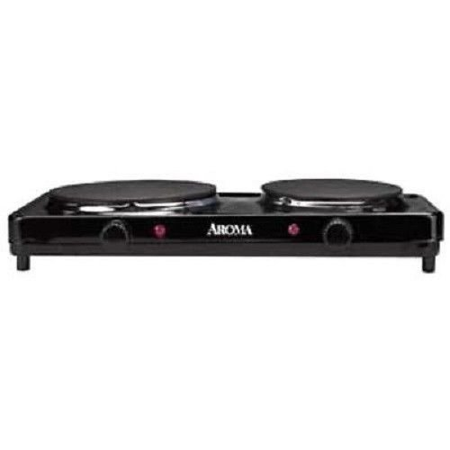 New Cooking Appliances Aroma AHP-312 Burner-2 x Radiant Element-Cast Iron Burner