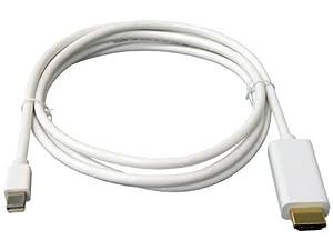 Original iProtect® Mini DisplayPort DP auf HDMI Adapter Kabel weiß für MacBook Pro, MacBook Air, PC Grafikkarten, LCD TV uvm