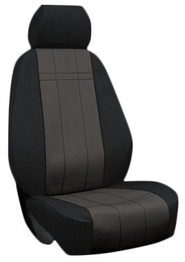 Custom Fit Chevy Equinox Seat Covers (2010-2016) Front Seat Set - CORDURA in Black w/ Gray Inserts - Buckets w/ Adjustable Headrests (Without DVD monitors) (Dvd Insert Covers compare prices)