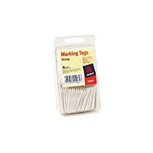 Avery White Marking Tags, Strung, 1.75 x 1.093 Inches, Pack of 100 (11062)