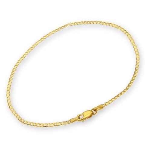 ChainCo-9ct-Yellow-Gold-0-9g-Curb-Bracelet-of-19cm-7-5-Inch-Length-and-1-8mm-W