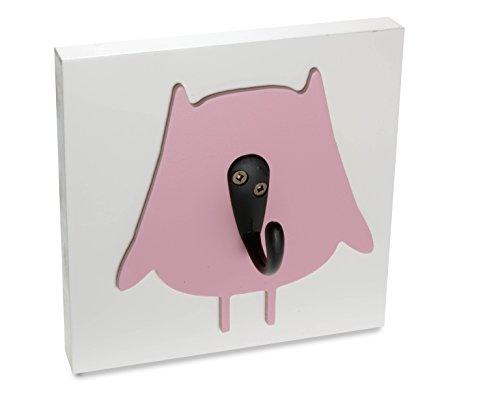 Homeworks Etc Single Wall Hook Nursery Decor, Dark Pink Owl - 1