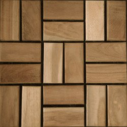 Teak Interlocking Wood Deck Tiles Mosaic / 12 in.x12 in.x1 in.