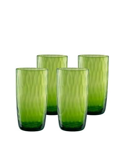 Artland Set of 4 Pebble 18-Oz. Highball Glasses, Lime