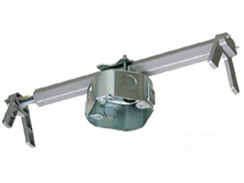 Arlington FBRS4200R-1 Steel Fan and Fixture Mounting Box with Adjustable Bracket, For Existing Construction, 16-24-inches, Metallic, 1-Pack (Ceiling Fans Mounting Bracket compare prices)