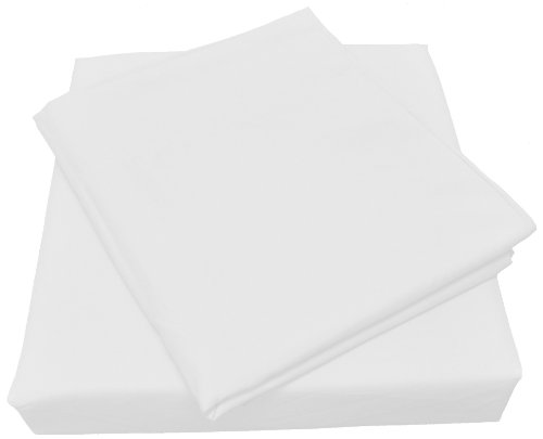 Microfiber Spa Quality Bed Sheet Set, Twin Size, White, 3-Pieces