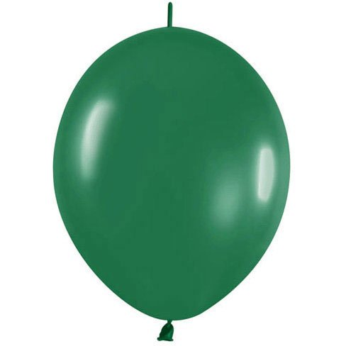 "12"" Fashion Forest Green Link- Latex Balloons (10 per package)"