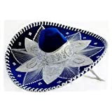 Royal Blue and White Mariachi Sombrero