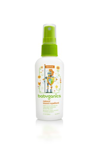 Babyganics Natural Insect Repellent, 2 Oz, Packaging May Vary