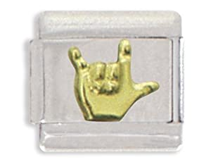 Clearly Charming I Love You Sign Language Italian Charm