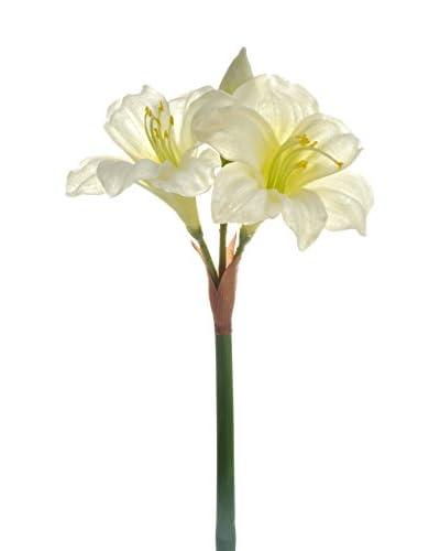 J-LINE Flor Artificial Amarilis
