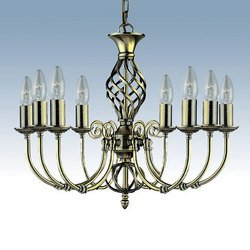 Zanzibar Antique Brass 8 Light Pendant 8X60 Watt Bc Lamps