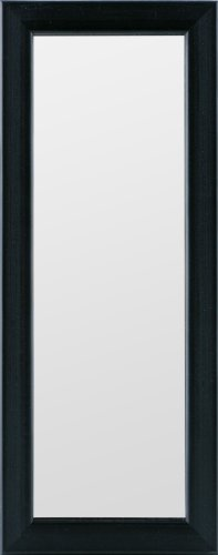 Gallery Solutions Black Locker Small Sized Mirror, 4-Inch by 12-Inch