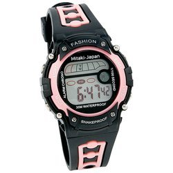New Mitaki-Japan Ladies Digital Sport Watch Date Function Stopwatch Alarm Waterproof White Box