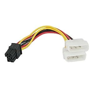 HDE PCI Express 6 Pin to 2 x 4 Pin Molex