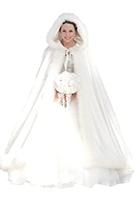 Winter Women Wraps Cape Faux Fur Wedding Coat Suit Jacket for Bridal