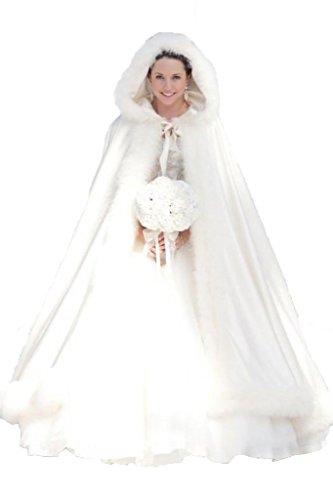 Purchasing Guide: Winter Women Wraps Cape Faux Fur Wedding Coat Suit Jacket for Bridal