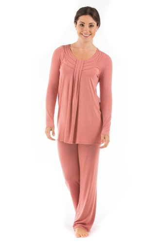 Womens Luxury Pajamas Pj Set Valentine Gift For Women Mom Wife Girlfriend Her Wb0006-Ccl-M front-932912