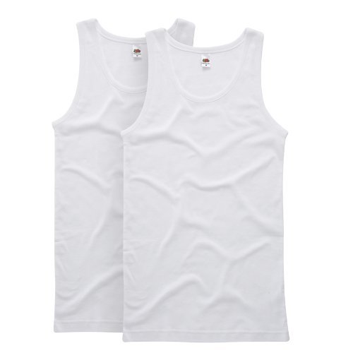 Fruit of the Loom Men's Rib Vest 2-Pack
